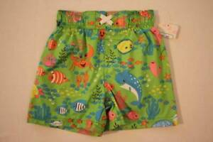 86fea85a63 Baby Boys Swim Trunks Bathing Suit Shorts Size 18 Months Lined Fish ...