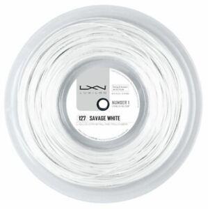 (0,58 €/m) Luxilon Savage 127 White 200 M Tennis Cordes-afficher Le Titre D'origine Acheter Maintenant