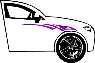 2 28x6 Tribal Accent Pinstriping Car Truck Side Graphic Decal Vinyl Ushirika Coop