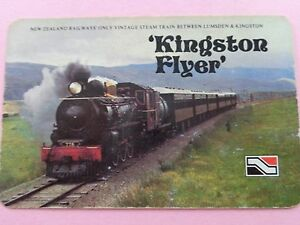 OLD-VINTAGE-KINGSTON-FLYER-VINTAGE-STEAM-TRAIN-SWAP-PLAYING-CARD