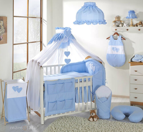 8pcs BABY BEDDING SET //BUMPER//CANOPY //HOLDER to fit COT or COT BED Cot Tidy