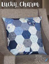 """Lucky Charm Quilt Pattern ~ Hexagon 20"""" Pillows ~ uses Jaybird Hex N More ruler"""