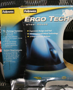 FELLOWES-ERGO-TECH-MOUSE-USB-and-PS2-for-windows-95-98-2000-ME-XP-NT-4-0
