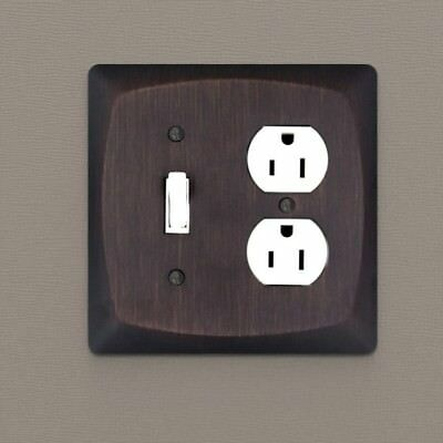 Oil Rubbed Bronze Toggle /& Duplex Combo Wall Plate Outlet Switch Plate 44059-ORB