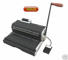 Akiles Coilmac Er Coil Binding Machine Amp Oval Holes Punch With Inserter New