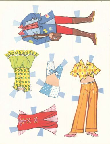 VNTG 1960S TINI MODS PAPER DOLL UNCUT LASR REPRODUCTION NO.1 SELR FREES/&H
