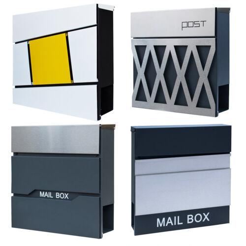 Briefkasten Edelstahl Zeitungsfach Anthrazit Wandbriefkasten Postkasten Mailbox