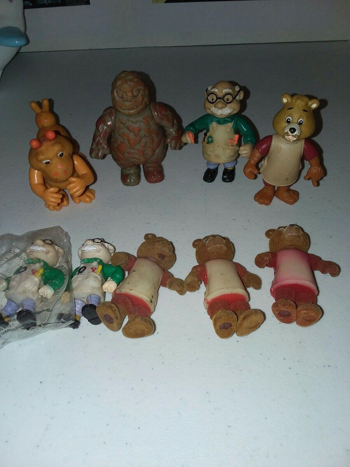 1985  86 Alchemy World Of Teddy Ruxpin  Wendy's Kid meal lot - Mudbluep   Grubby