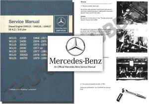 Details about Mercedes OM617 Diesel Engine Service Workshop Repair Manual  115 W123 300 D TD C