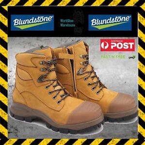 NEW!! Blundstone 992 Steel Toe Wheat 150mm Zip Side Boot FREE EXPRESS POST!!!