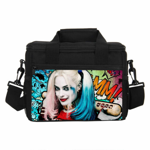 Harley Quinn Suicide Squad Backpack Insulated Lunch Box Pencil Bag Cross Bag Lot