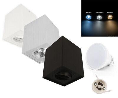 Gu10 5w Led Leuchtmittel 230v Aufbau Spotleuchte Eckig Strahler Deckenleuchte Beleuchtung
