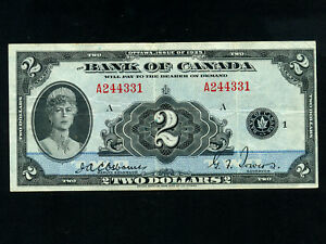 Canada-P-41-2-Dollars-1935-Queen-Mary-VF
