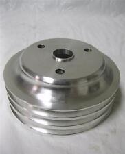 SB Chevy LWP Aluminum 3 Groove Crankshaft Pulley Long Water Pump SBC 350 Crank
