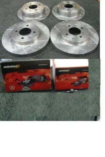HONDA CIVIC EG5 EG6 EH9 BRAKE DISC DRILLED GROOVED BRAKE DISC /& PADS FRONT REAR