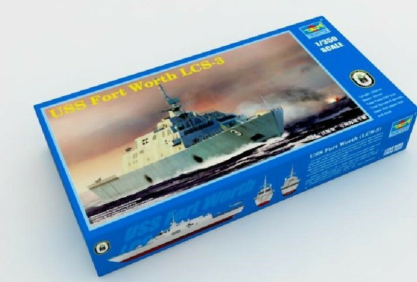 04553 Trumpeter 1 350 Model Fort Worth LCS-3 Combat Ship Fighting Vessel Static