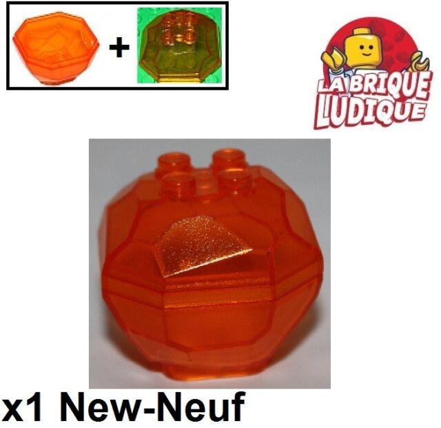 Lego 1x rock rock boulder ball lava volcano trans orange 30294 30293 new