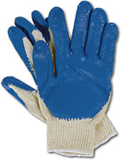 10 Pairs String Knit With Blue Latex Rubber Coated Palm Work Safety Gloves