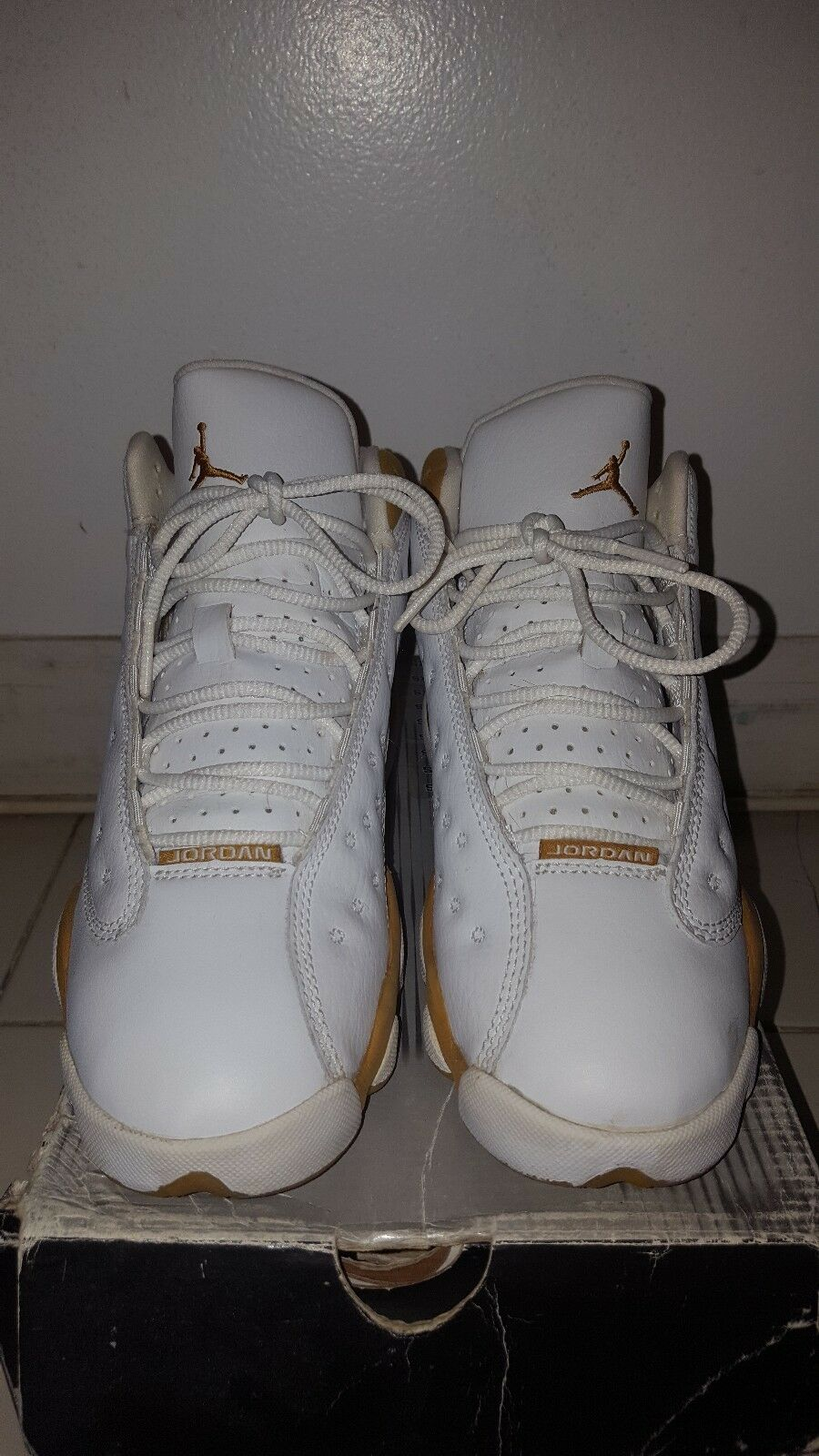 2004 Nike Air Jordan Retro 13 GS White Wheat Size 4Y (4296) 309260-171 2004