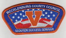 "CSP Mecklenberg County Council ""Scouter Success Seminar"" 2014 Orange Bdr 700203"