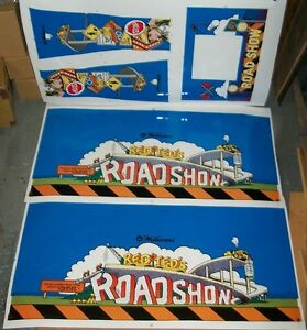 New-Williams-Road-Show-Pinball-Machine-Cabinet-Decal-Set-Free-Shipping