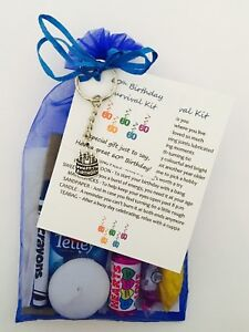Image Is Loading Male 60th Birthday Survival Gift Kit With Keyring