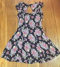 ASOS Size 10 Floral Vintage 90's Grunge Multi Print Skater Dress Party Summer