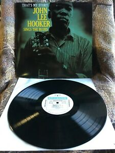 JOHN LEE HOOKER VINYL thats my story LP SINGS THE BLUES EX/EX 1991 remaster