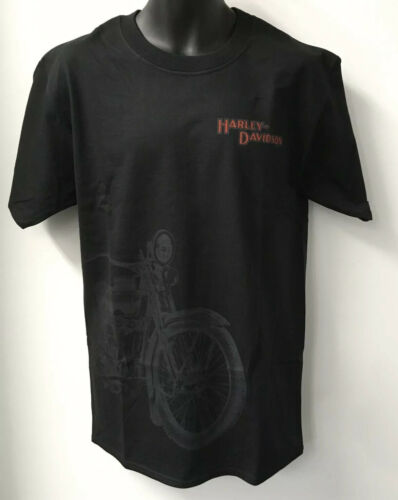 Harley Davidson Men/'s Side Motorcycle Short Sleeve T-Shirt TALL-Black R003229