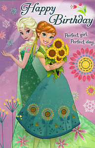 Frozen happy birthday greeting card anna elsa olaf fold out with image is loading frozen happy birthday greeting card anna elsa olaf m4hsunfo