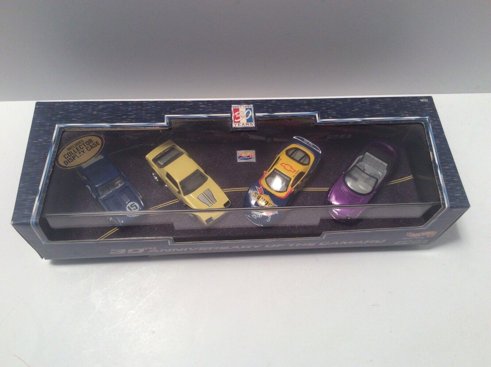 Hot Wheels 30th Anniversary of the Camaro (1967-1997) 4 car set