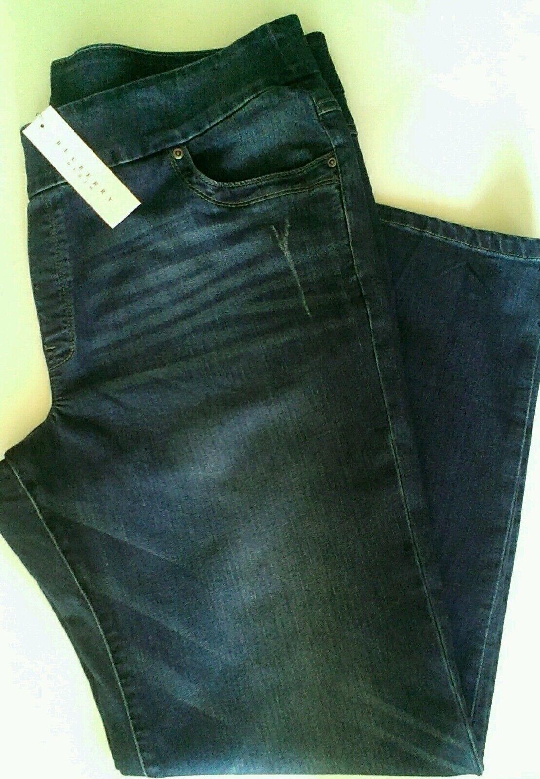 blueeberry Denim Comfort Fit Stretch Distressed Premium Jessie Slim Leg NEW 20W