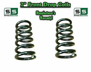 1973-91 Chevy GMC 1//2 Ton Truck Suburban 1 Inch Drop Lowering Front Coil Springs
