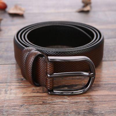 Men/'s Belt Head Pin Buckle Belt Belt Lead Men Trouser Business Work Casual Gift