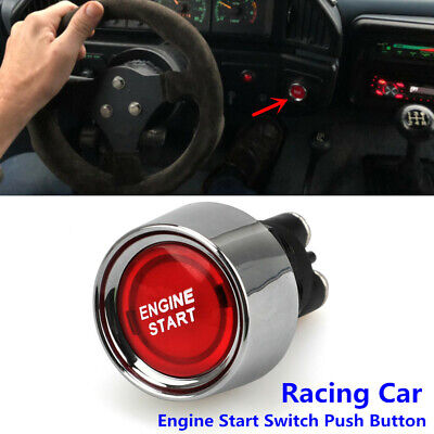 1x Car Illuminated Engine Start Switch Push Button Race Starter 12V Accessories