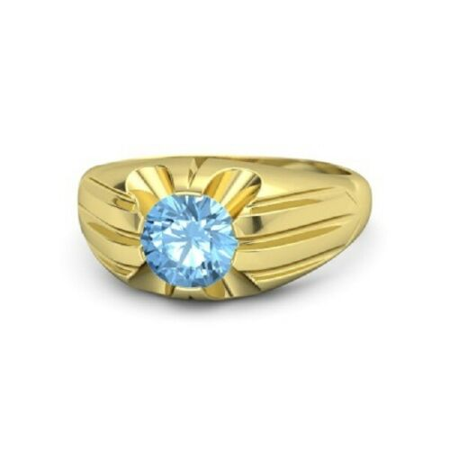 Details about  /Solid 925 Sterling Silver Gold Plated Natural Gemstone Blue Topaz Ring Jewelry