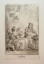 Le Prince, Jean Baptist (1733-1781) Geruch  Odorat  Aquatinta  Kupferstich 1774