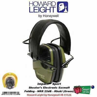 Howard Leight Impact Sport Electronic Hearing Protection, Earmuffs #R-01526