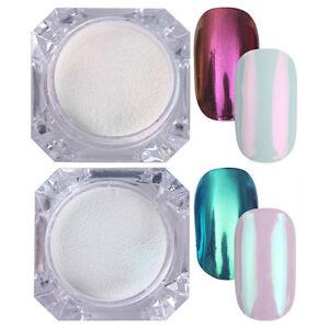 2 Boxen BORN PRETTY Mirror Nail Powder Nagel Kunst Puder Glitter Chrome Pigment