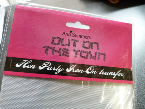 NEW ANN SUMMERS DIAMANTE HEN PARTY IRON ON TRANSFER 6 12 18 24 LOT MULTI PACK