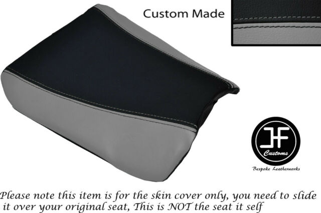 GREY & BLACK VINYL CUSTOM FITS SUZUKI RGV 250 SP VJ22 FRONT SEAT COVER ONLY