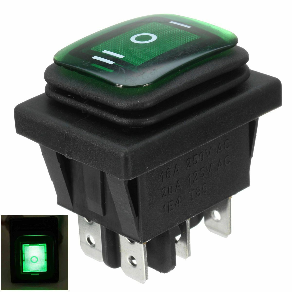 Red Light Illuminated 6 Pin Dual Spst On Off Boat Rocker Switch 15a Mini Rockers Non Switches 250v 20a N3 Ebay