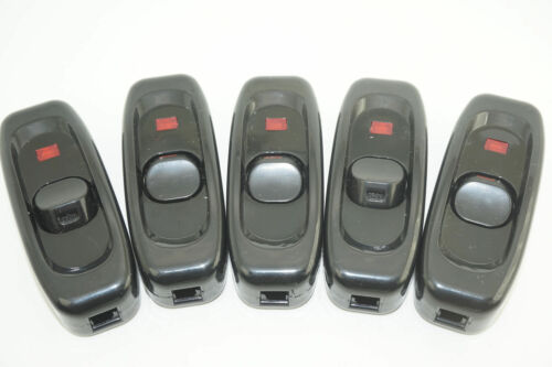 5Pcs INLINE ON//OFF ROCKER SWITCH SUITS 10A 240V FOR HOME LAMP CAMPING LED LIGHT