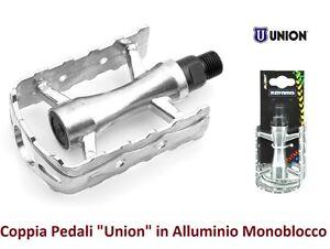 29547-Coppia-Pedali-034-Union-034-Sport-in-Alluminio-per-Bici-26-28-Corsa-Pista-Vint