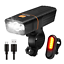 OMERIL Bike Light Set Rechargeable Bicycle Lights with 300LM Waterproof Front