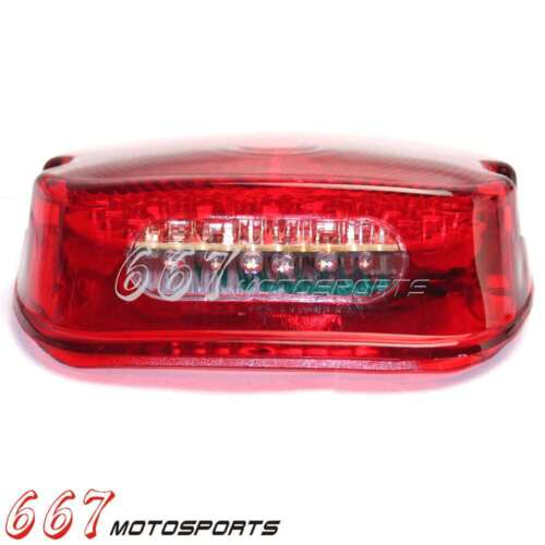 Red LED Tail Light Brake Lamp For Harley Electra Glides FXST Dyna XL Lay Down