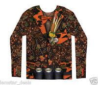 Fauxreal Camo Tuxedo Long Sleeve Shirt Or Halloween Costume Redneck Hunting