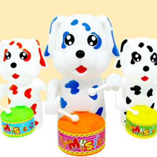 Kids Cartoon Dog Drumming Design Wind-Up Developmental Toy Children Cute Gifts