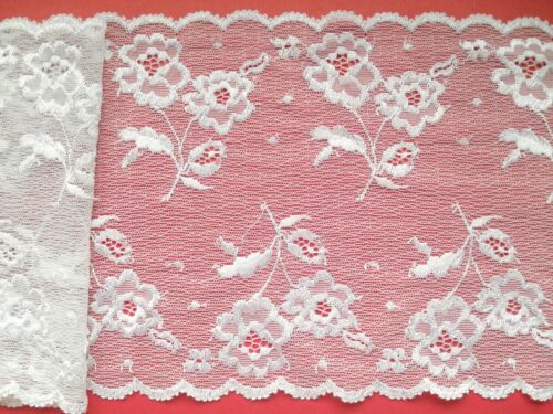 """Laces Galore ~Beautiful French Chantilly Ivory  Stretch  Lace 17cm//7/"""" Bridal"""