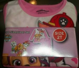NWT Toddler Girls Long Sleeve Paw Patrol Dress Size 2T